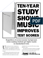 Study shows music improves test schores