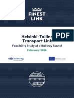 Helsinki-Tallinn Transport Link, Feasibility Study of a Railway Tunnel