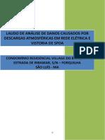 1- Laudo de Análise de Danos Causados Por Descargas Atmosféricas Em Rede Elétrica e Vistoria de Spda