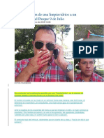 Brutal Agresión de Una Limpiavidrios a Un Conductor en El Parque 9 de Julio