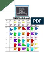 wdwu schedule