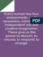 Human endowments