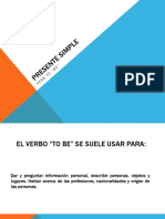 Presente Simple-Verbo to Be