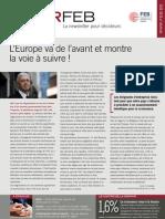 L'Europe va de l'avant et montre la voie à suivre !, Infor FEB n° 28, 9 septembre 2010