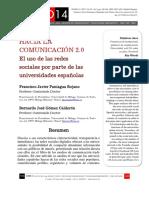 Hacia La Comunicación 2.0, Rojano