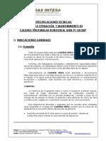 Especif Tecnica y Manual Caldero