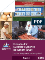 Supplier Guidance Document v3 3 SPANISH MC DONALS
