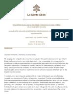 Papa Fco 2018 Chile Discurso a Religiosos Chile