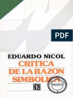 Nicol, Eduardo - Crítica de la razón simbólica.pdf