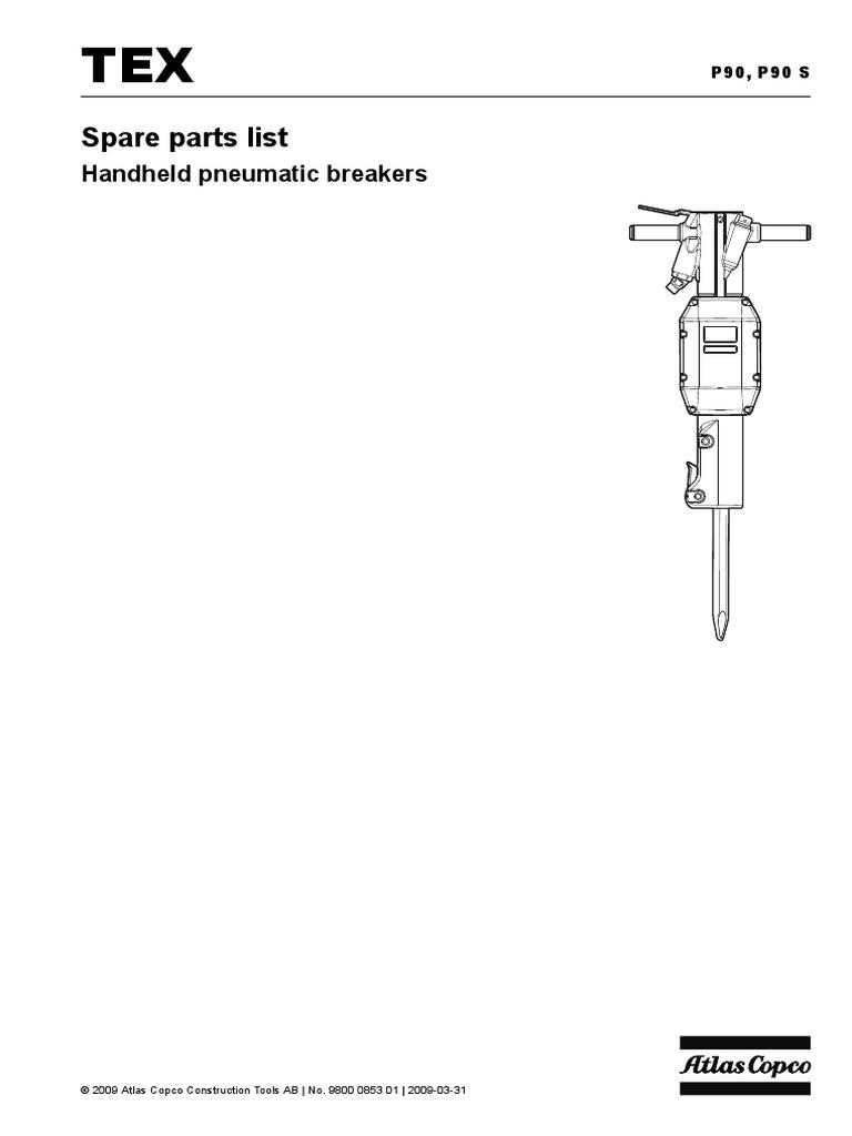 Tex p90 silenced paving breaker 1-1/4 x 6: crowder hydraulic tools.