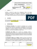 PRG-SST-004 Programa de Medicina Preventiva y Del Trabajo
