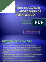 Control de Calidad en El Laboratoriode Hematologia
