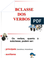 4-Subclasse Dos Verbos