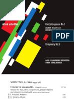 Schnittke Booklet CD Concerto Grosso No 1 - Sinfonia No 9