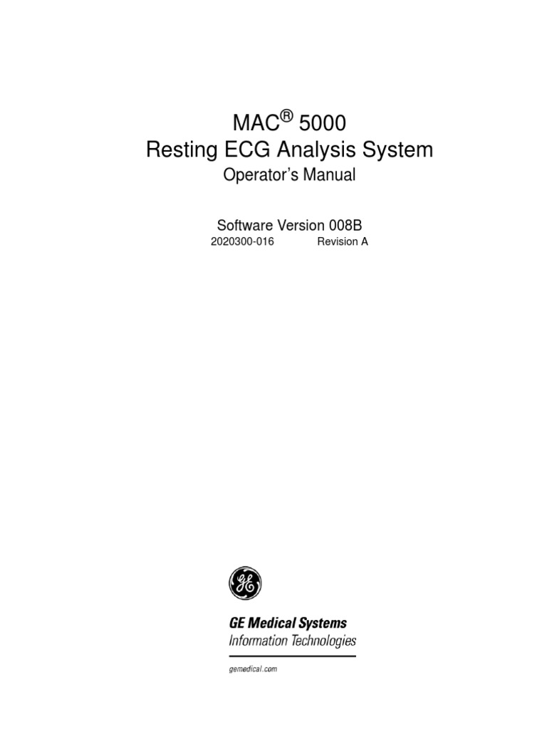 Mac 5000 User Manual
