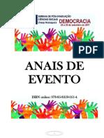 Anais Da Xvi Semana de Pós-graduação Em Ciências Sociais Da Unesp-fclar