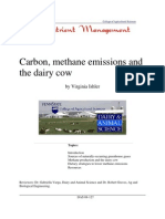 Carbon, Methane Emissions and the Dairy Cows