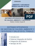 Sistemas Integrados de Gestión de Calidad, Ambiente y Seguridad y Salud en El Trabajo