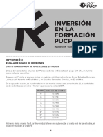 Inversión en La Formación PUCP 2017