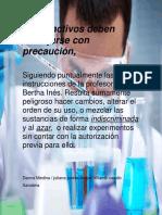 Laboratorio, manejo de reactivos
