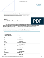 Nivel Básico_ Personal Pronouns