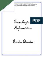 TECNOLOGIA PRIMER PERIODO 5°