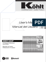 (KMIX1204P - KOHLT) Users Manual English Spanish