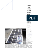 Como eu construí um painel solar que produzem electricidade
