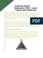 Sejarah Berdirinya Partai Nasional Indonesia