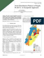 Population Growth Distribution Pattern in Punjab Pakistan