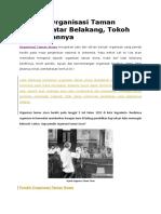 Sejarah Organisasi Taman Siswa
