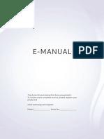 Samsung TV E-Manual