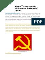 Latar Belakang Terbentuknya PKI