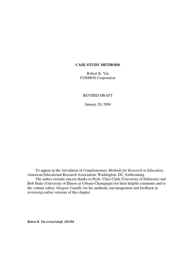 yin case study research