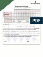 Ujjwala Application Form English