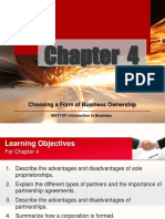 Chapter 4 Choosing a Form of Business Ownership