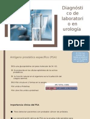antígeno prostático fraccion libre y total