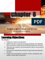 Chapter 8 Producing Quality Goods and Services (2)