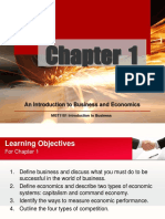 Chapter 1 an Introduction to Business and Economics