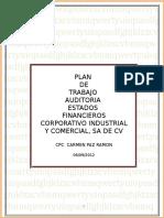 PLANEACION  DE  AUDITORIA  CICSA  2012 .doc
