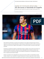 Alexis Sanchez Fraude Spain