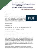 GC_26_09!8!2015 Entre La Propiedad No Inscrita y El Embargo Inscrito (Luperdi Gamboa)