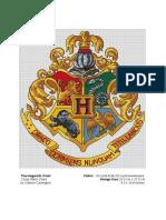 The Hogwarts Crest Cross Stitch Chart