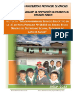 Pip Educacion infraestructura escolar