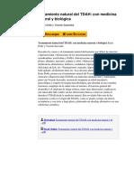 Tratamiento Natural Del Tdah Con Medicina Natural y Biolgica by Katia Dolle y Vicente Saavedra 8483527472