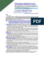 """Bilten """"Civilno društvo"""" UG """"Evropski pokret u Smederevskoj Palanci"""", br. 6/7, novembar 2003"""