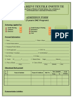 DAE Admission Form7 Technologies 2015