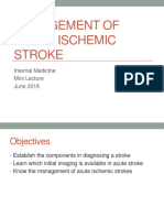 Management of Acute Ischemic Stroke