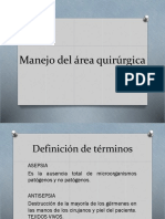 Manejo Del Area Quirurgica