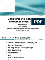CCIP Deploying and Managing Enterprise IPsec VPNs